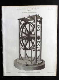 Rees 1820 Antique Print. Astronomical Instruments 08 Circle by Francis Wollaston